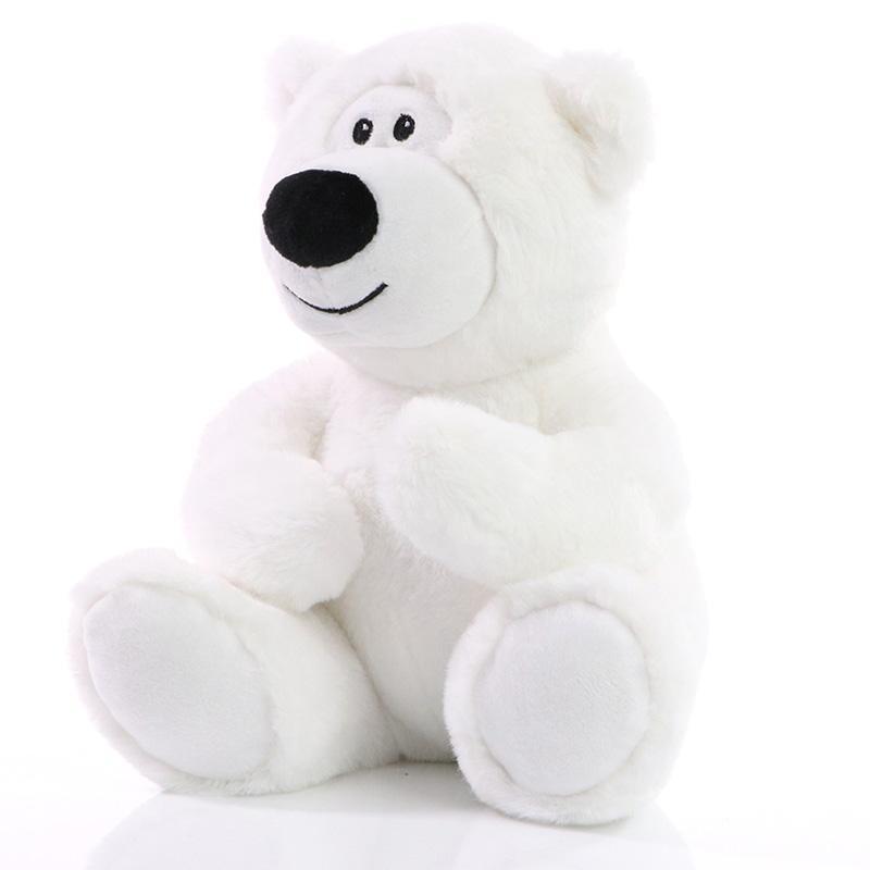 ours en peluche publicitaire blanc