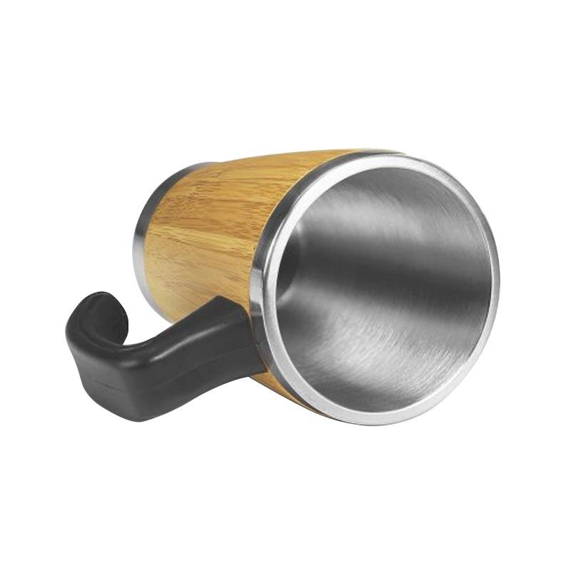 Mug publicitaire isotherme en bambou Batch 330 mL - Intérieur