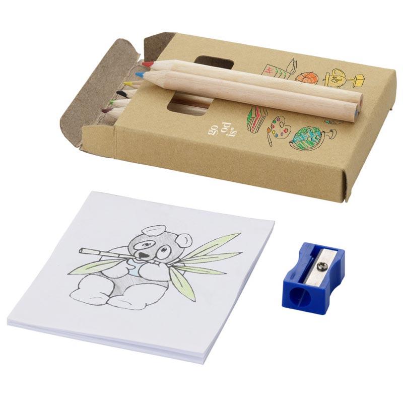 Kit de coloriage avec taille-crayon et dessins