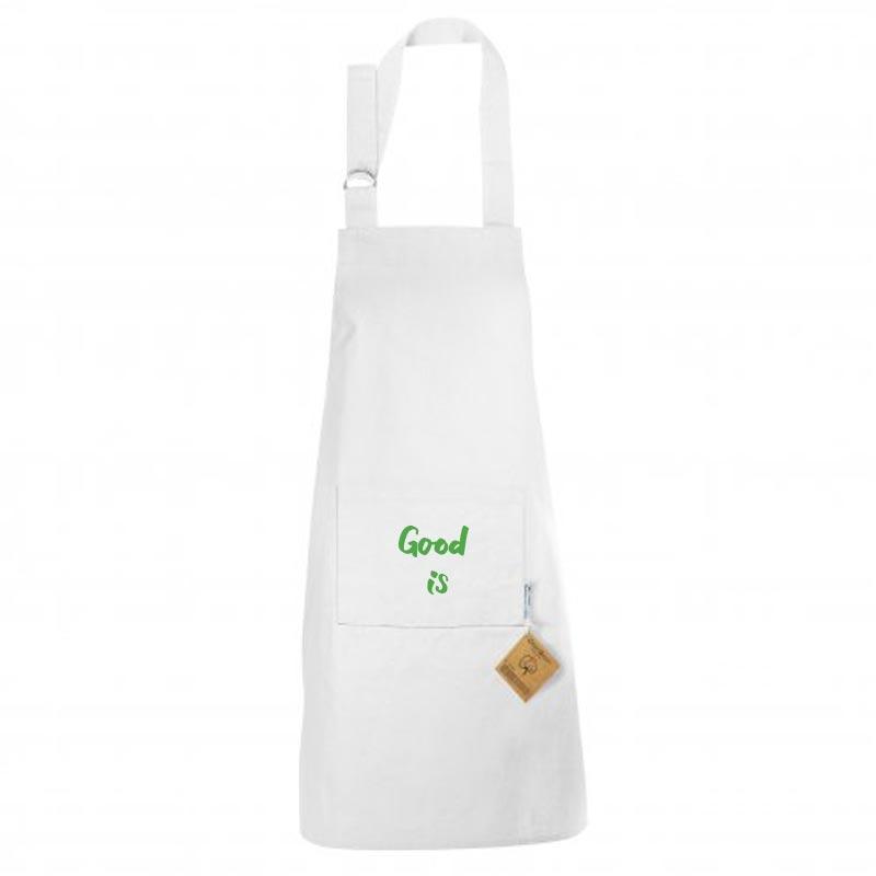 Tablier publicitaire en coton bio Master Cook 180 g - Coloris blanc