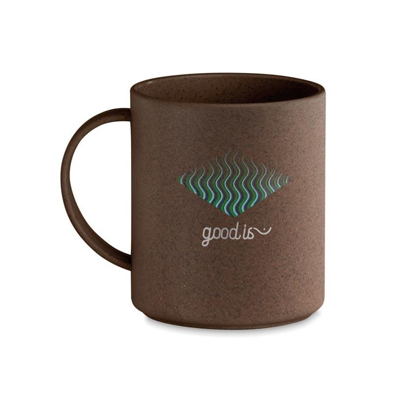 Mug personnalisé écologique en cosse de café Brazil