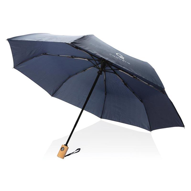 Parapluie publicitaire en rPET Wetgreen