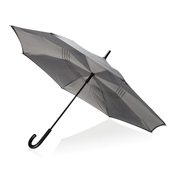 """Parapluie publicitaire manuel réversible de 23"""" Backwards - Parapluie personnalisé"""