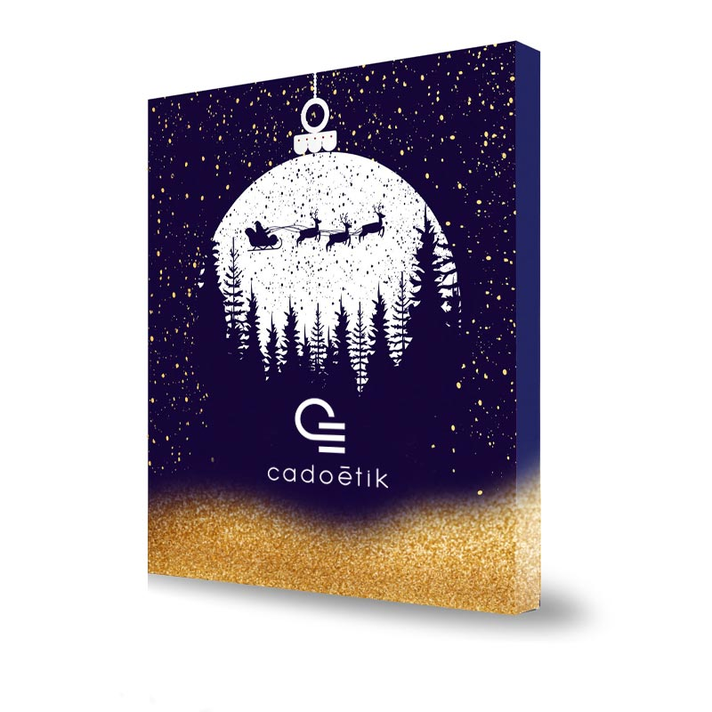 Calendrier de l'Avent avec billes de chocolat - Cadeau d'entreprise de fin d'année