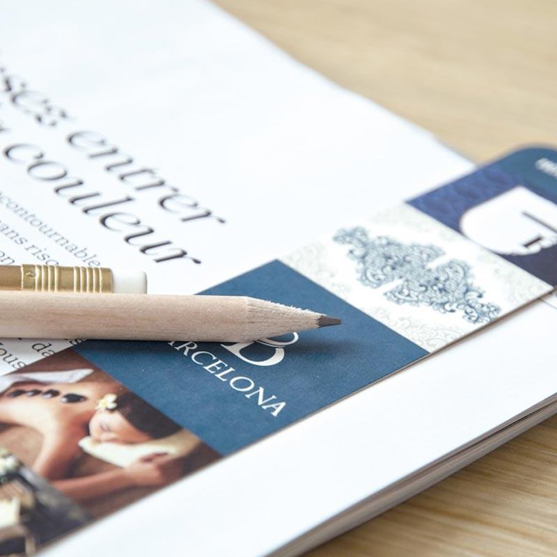 Kit marque-page et crayon à papier Eco - Objet publicitaire