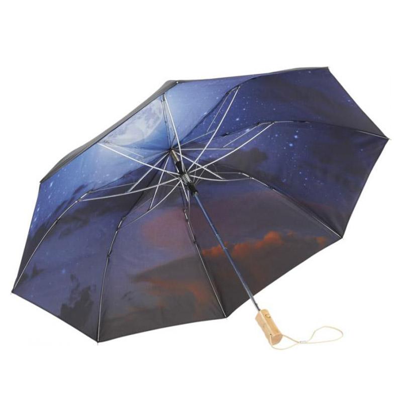 """Parapluie personnalisé automatique 21"""" Night sky au design atypique"""