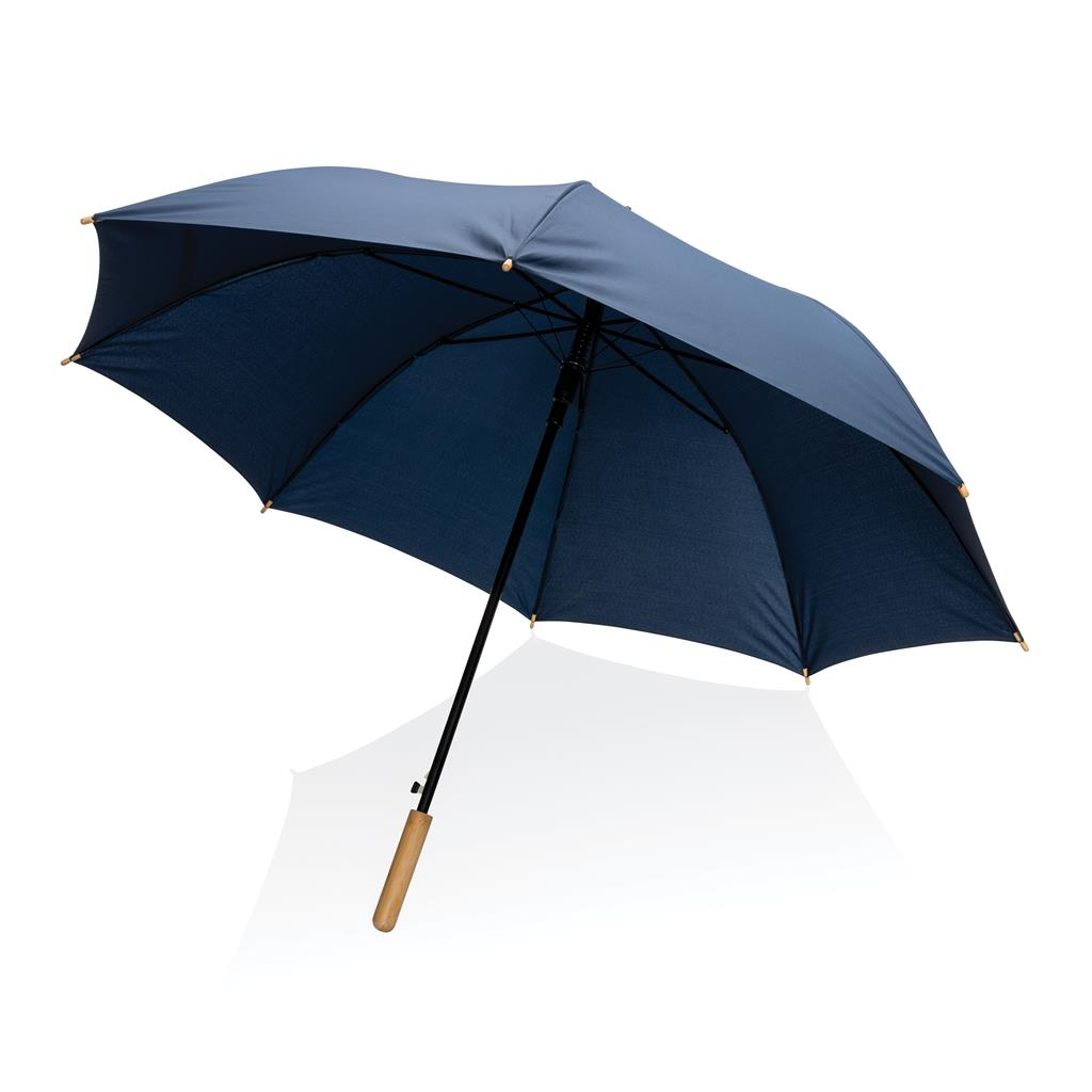 Parapluie publicitaire droit en rPET et Bambou Impact Aware™ 1