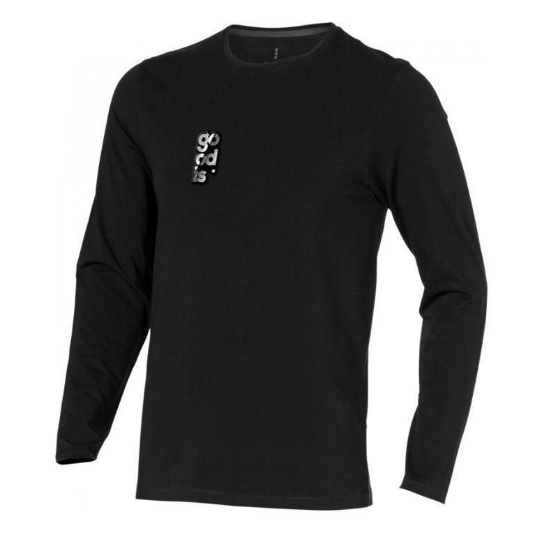 T-shirt bio publicitaire manches longues pour homme Ponoka  - textile personnalisable écologique