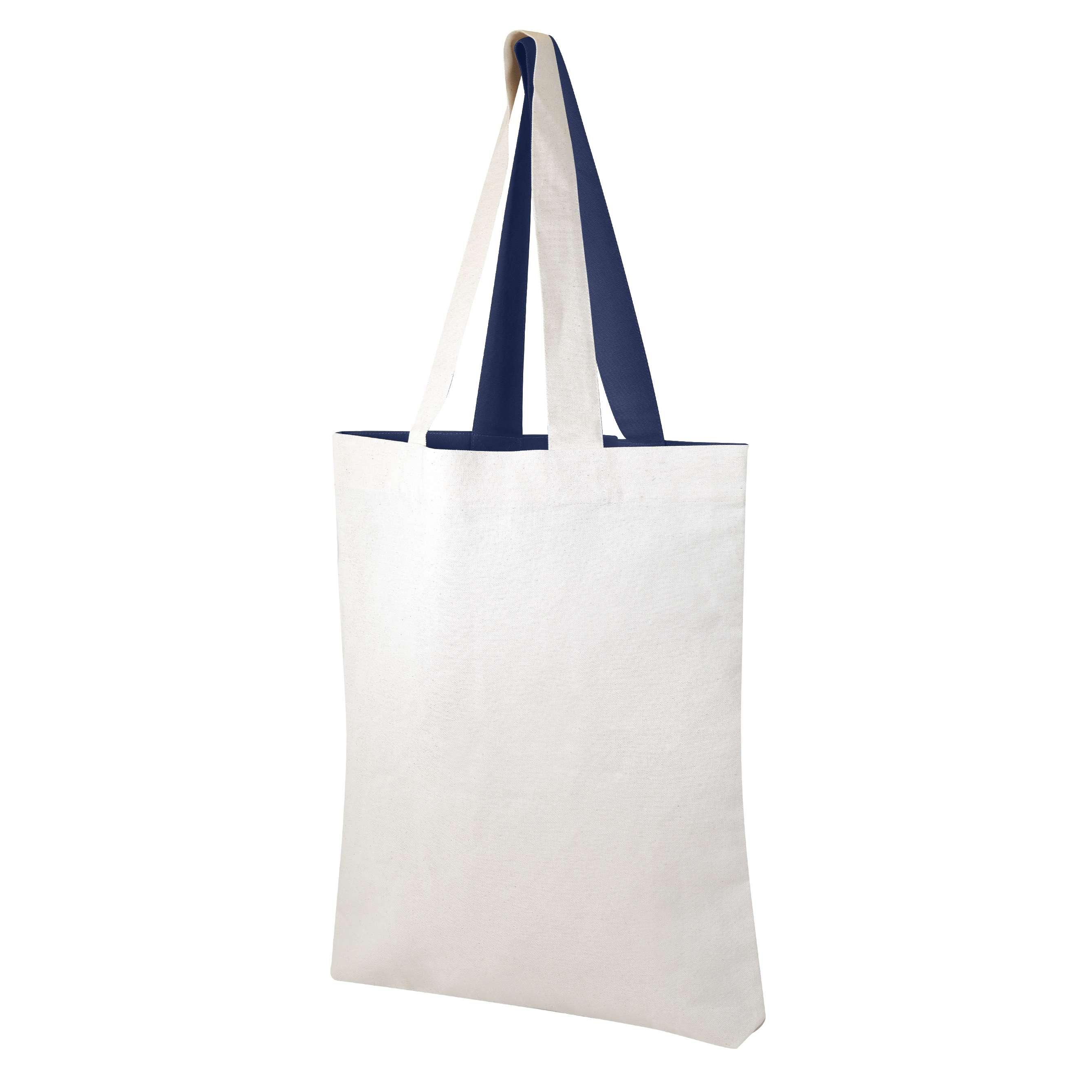 Sac shopping personnalisable écologique Visversa naturel/bleu - tote-bag promotionnel