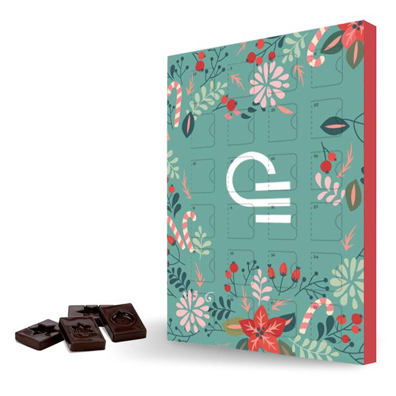 Calendrier publicitaire au chocolat pour les entreprises