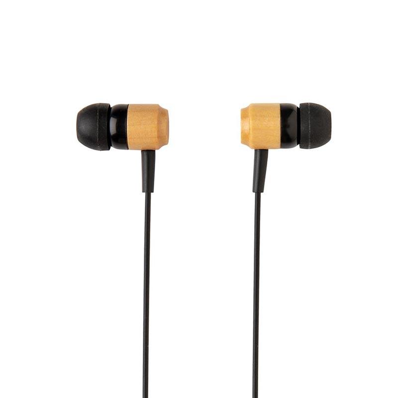 Ecouteurs sans fil en bambou Kali à personnaliser pour marquage logo
