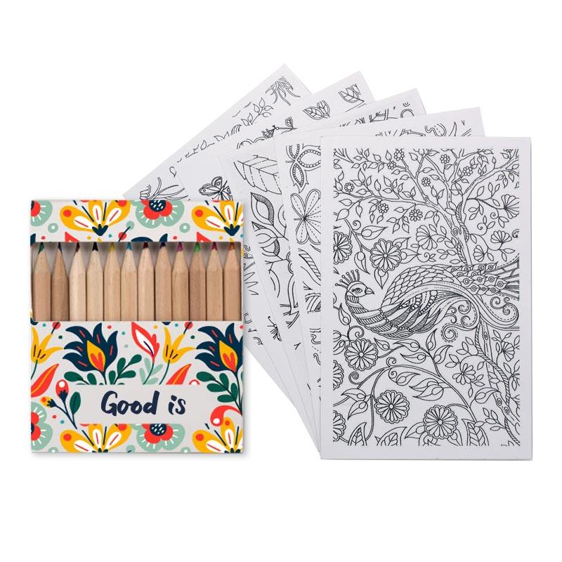Coloriage personnalisable adulte Paint&Relax - Cadeau publicitaire bien-être
