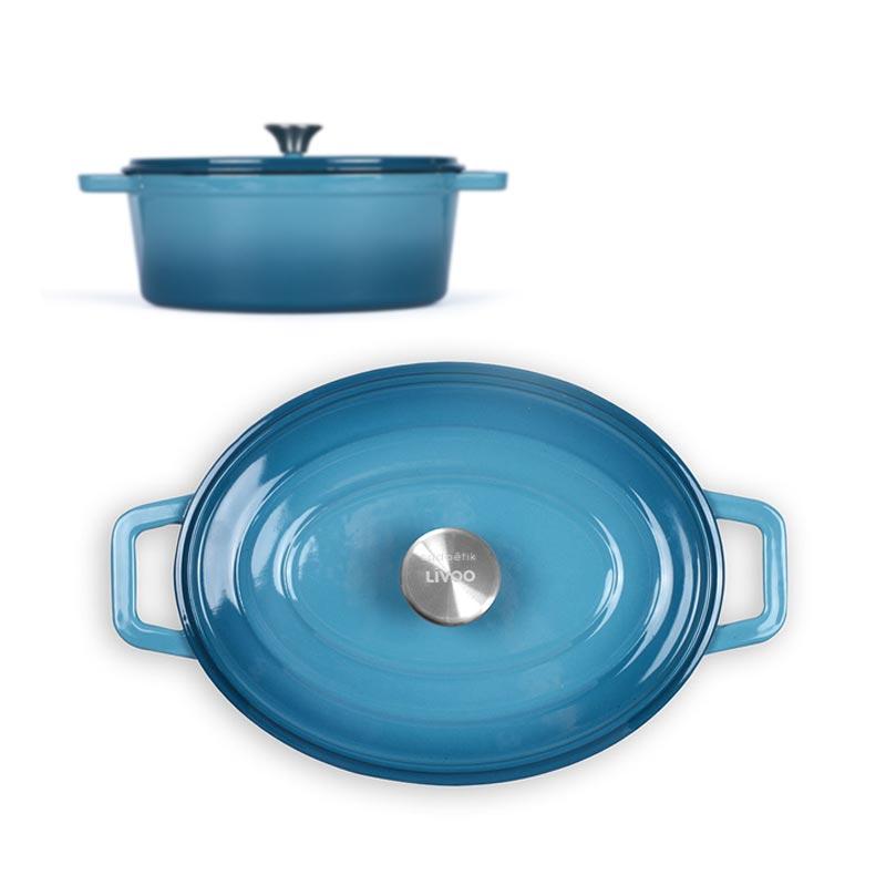 Cocotte ovale personnalisée Mijo bleu