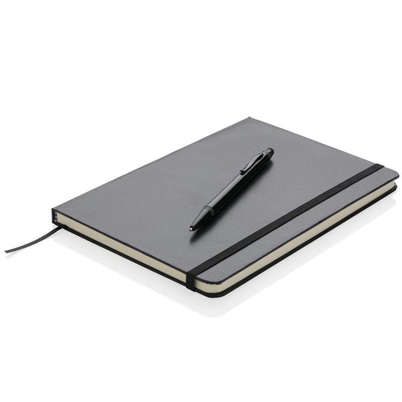 Set papeterie publicitaire - carnet de notes publicitaire A5 Basil et stylet