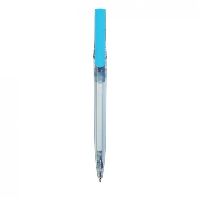 stylo bille publicitaire en rpet Dam bleu