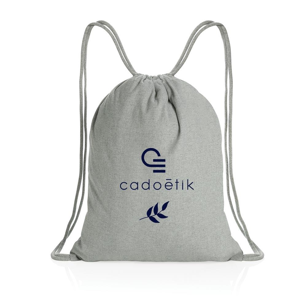 gym bag publicitaire en coton recyclé Impact Aware™ 1