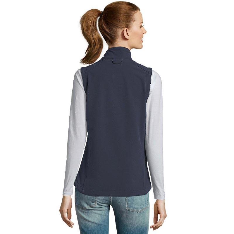 veste softshell pour femme sans manches Rallye vue de dos
