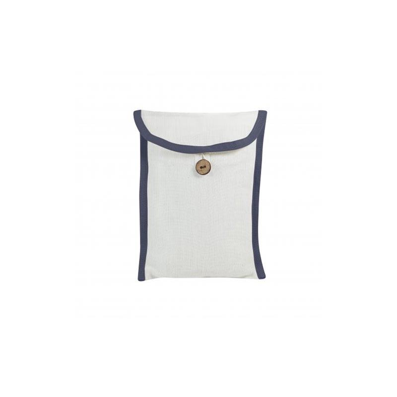 Pochette personnalisable pour foulard - bleu