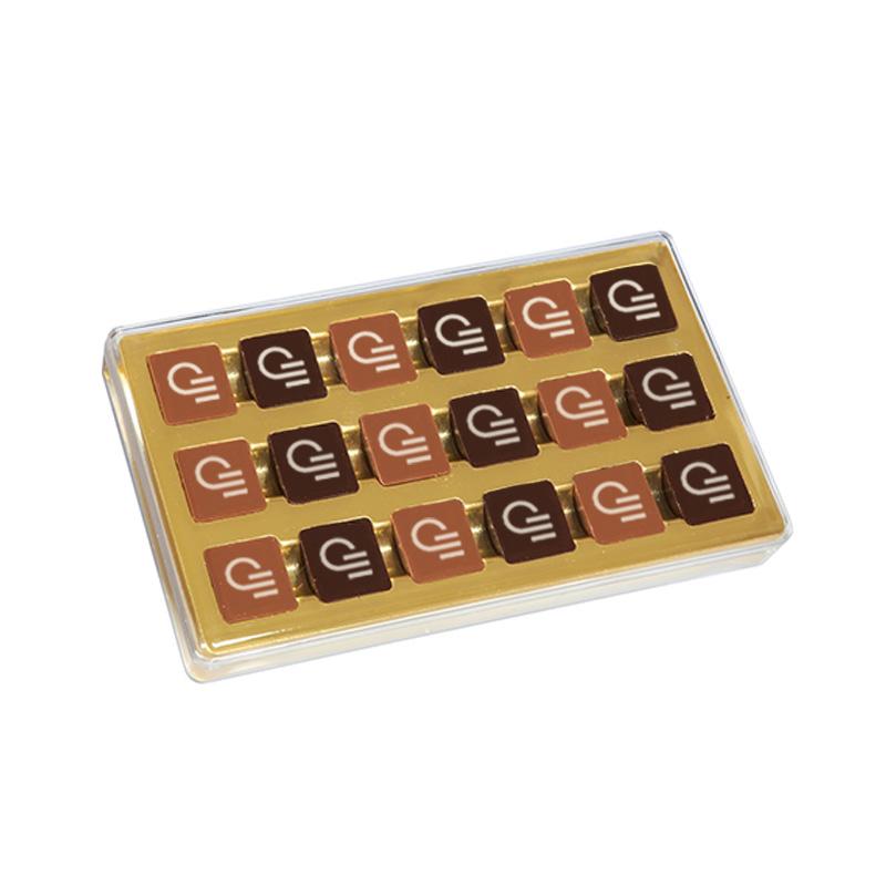 Boîte de chocolats publicitaire De Boissy 180 g