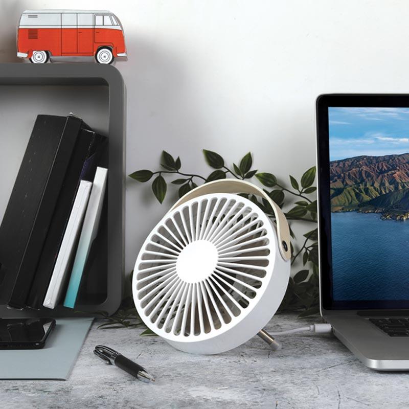 Ventilateur de table publicitaire USB Lewis - Cadeau d'entreprise