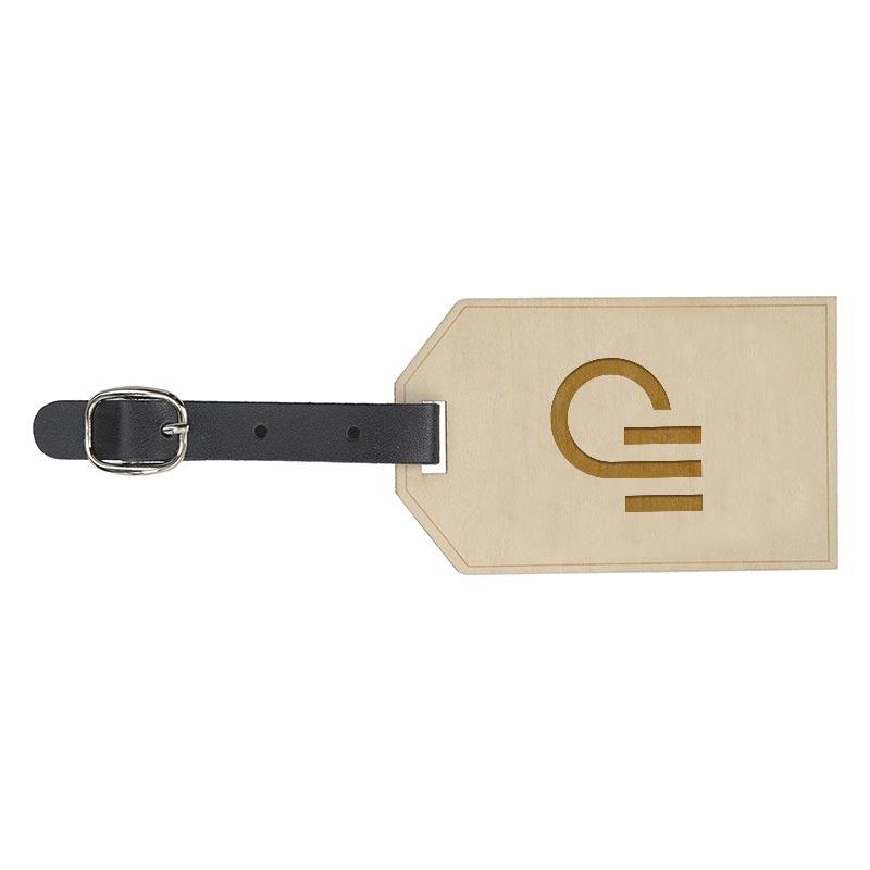 Étiquette à bagage publicitaire en bois Etiwood - Recto