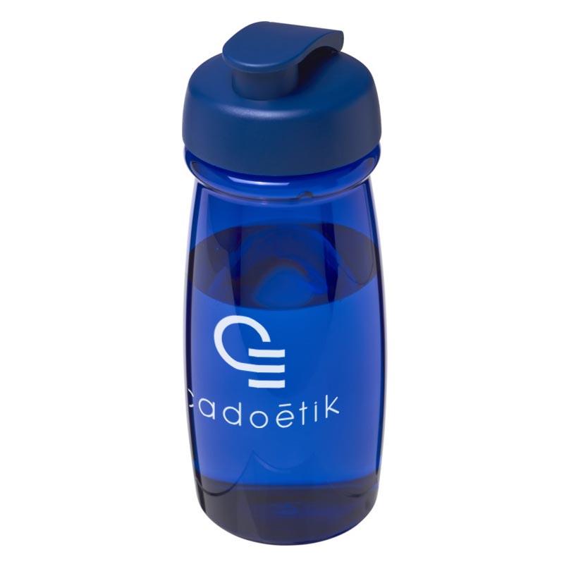 Gourde publicitaire sport H2O Pulse® 600 mL - Coloris bleu