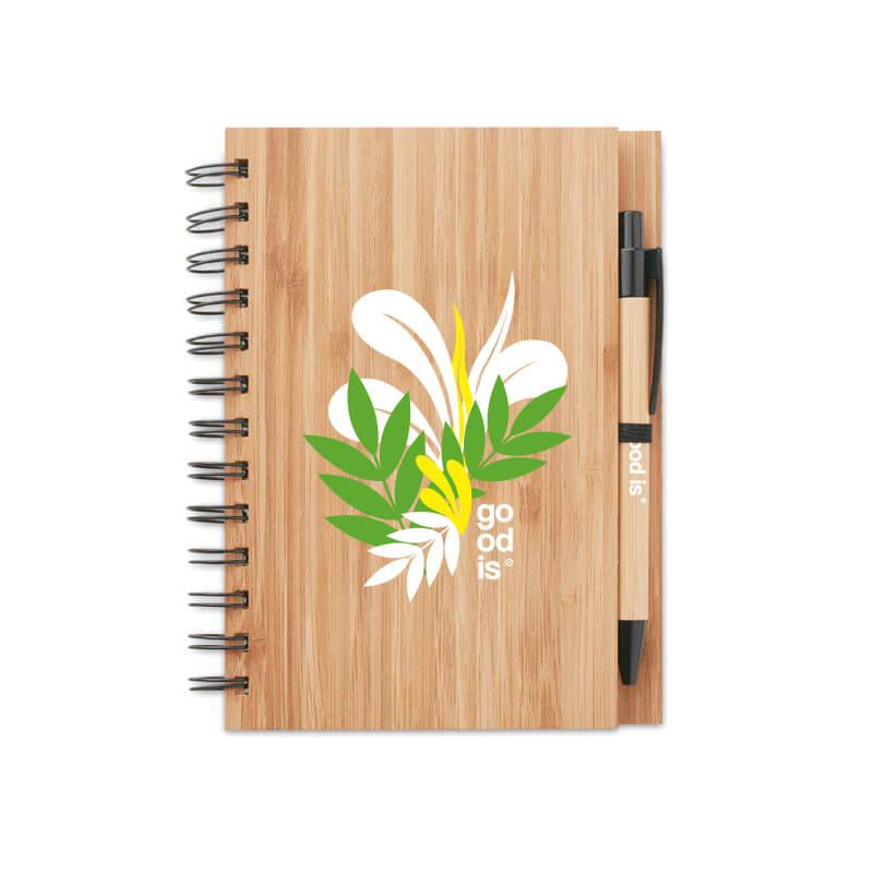 Carnet et stylo en bambou Bambloc - Goodies écologique