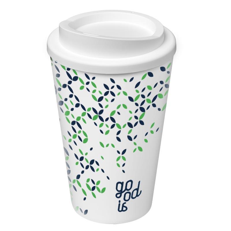 mug de voyage publicitaire Americano - objet pub antibactérien