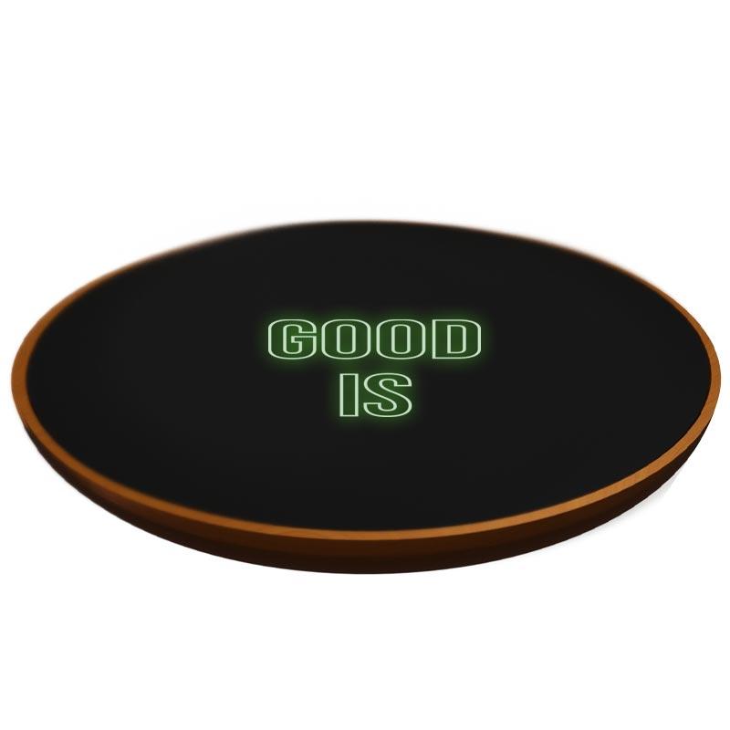 chargeur publicitaire induction en bois FSC Eco - goodies high-tech
