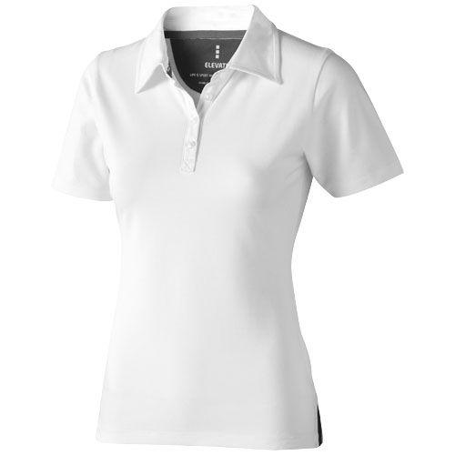 Polo blanc manches courtes pour femme