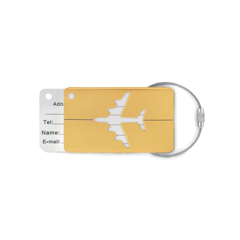 Etiquette à bagage en aluminium FLY TAG