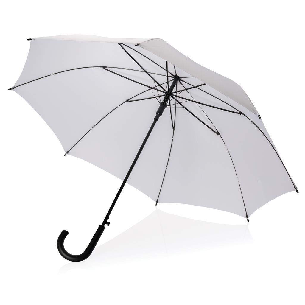 """Parapluie publicitaire automatique 23"""" Caney blanc- objet publicitaire"""
