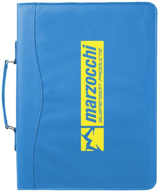 Serviette classeur zippée A4 Ebony bleue