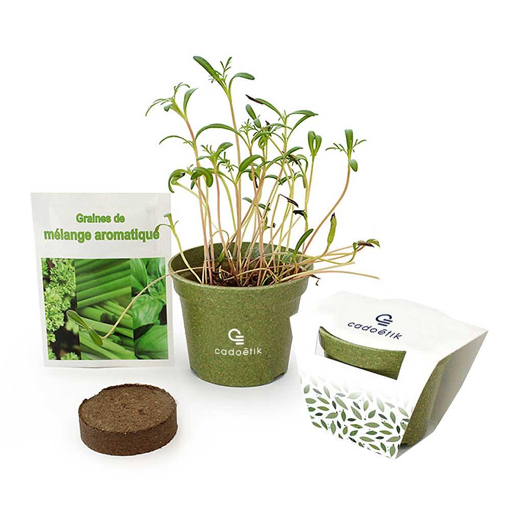 Kit de plantation publicitaire Jardin Ecolo - Cadeau publicitaire écologique