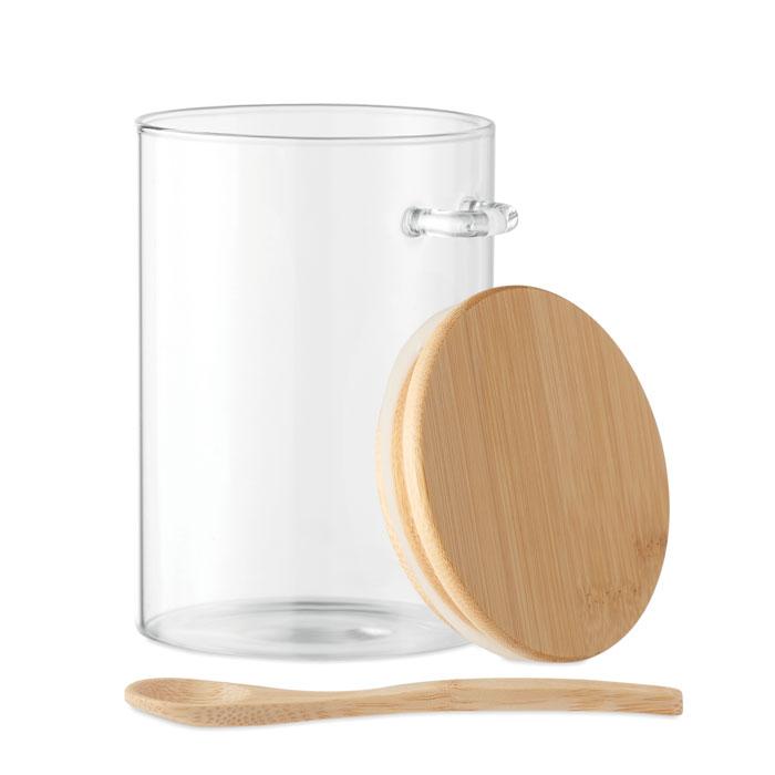 bocal publicitaire en verre Borospoon 2