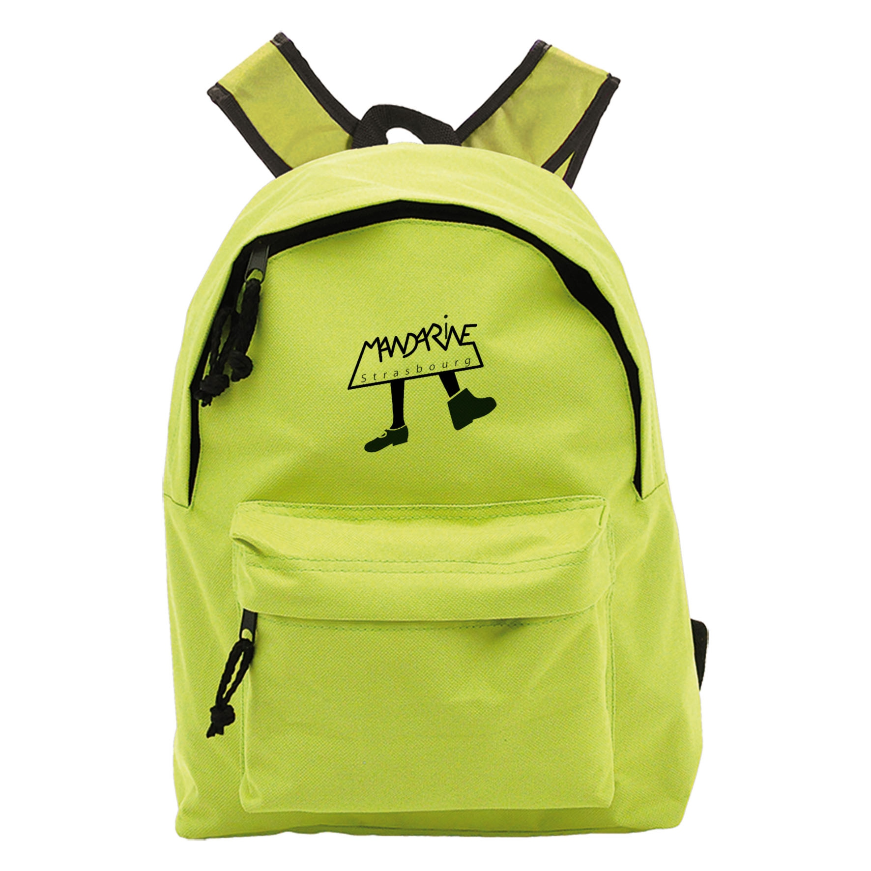 Petit sac à dos publicitaire Coloré - sac à dos personnalisable - vert citron