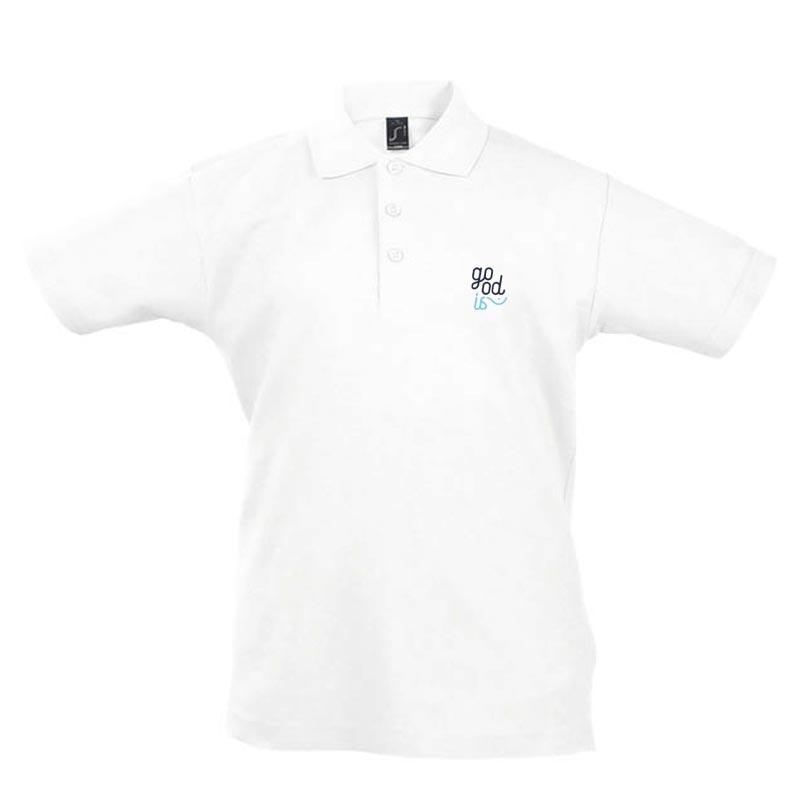 Polo publicitaire enfant en coton blanc 170 g