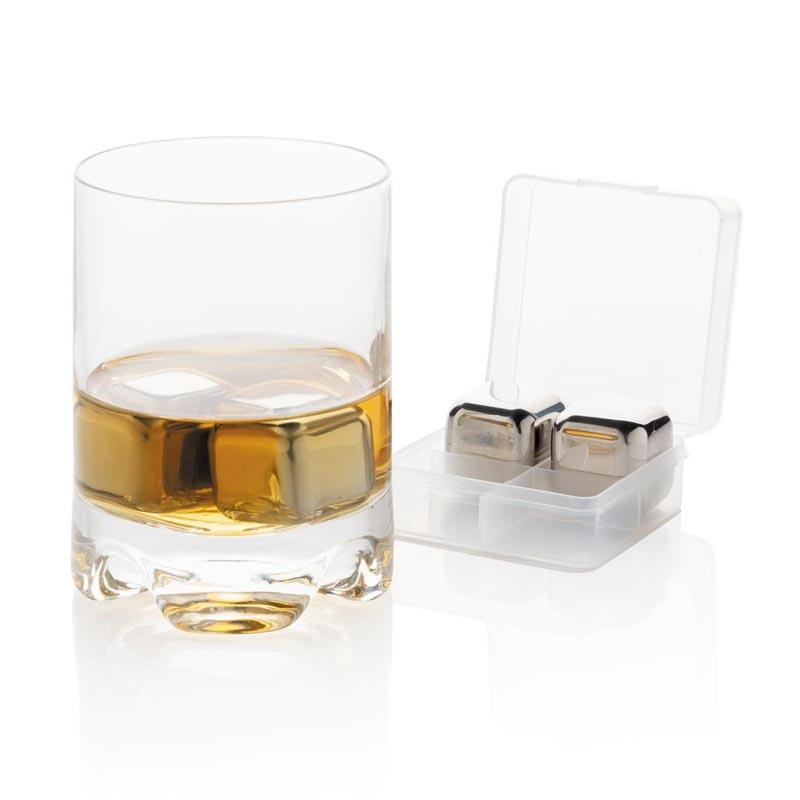 Glaçons réutilisables en acier inoxydable avec verre à Whisky