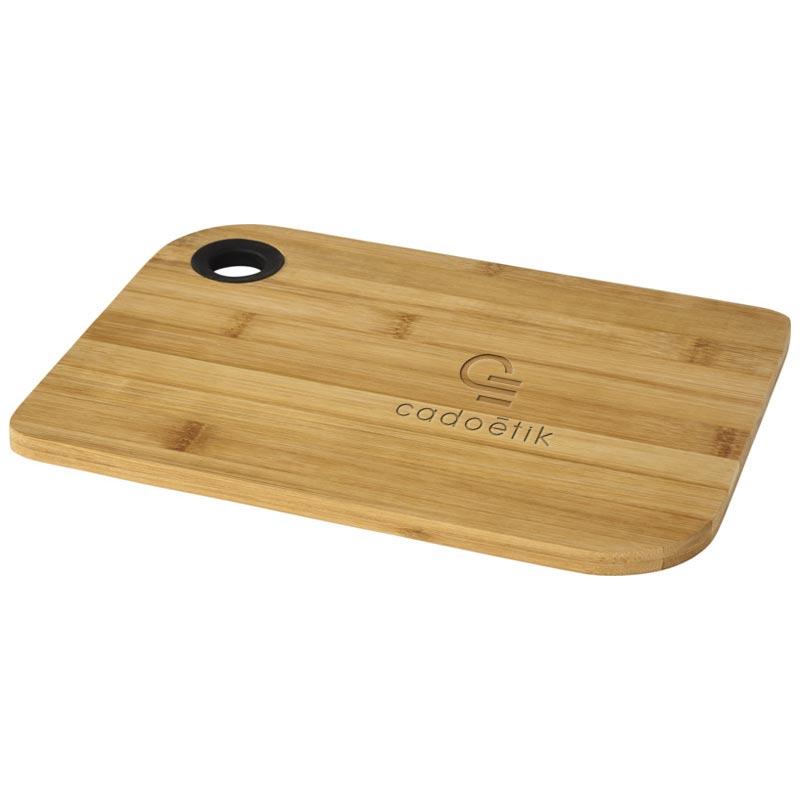 Planche à découper publicitaire Main en bambou - Goodies cuisine