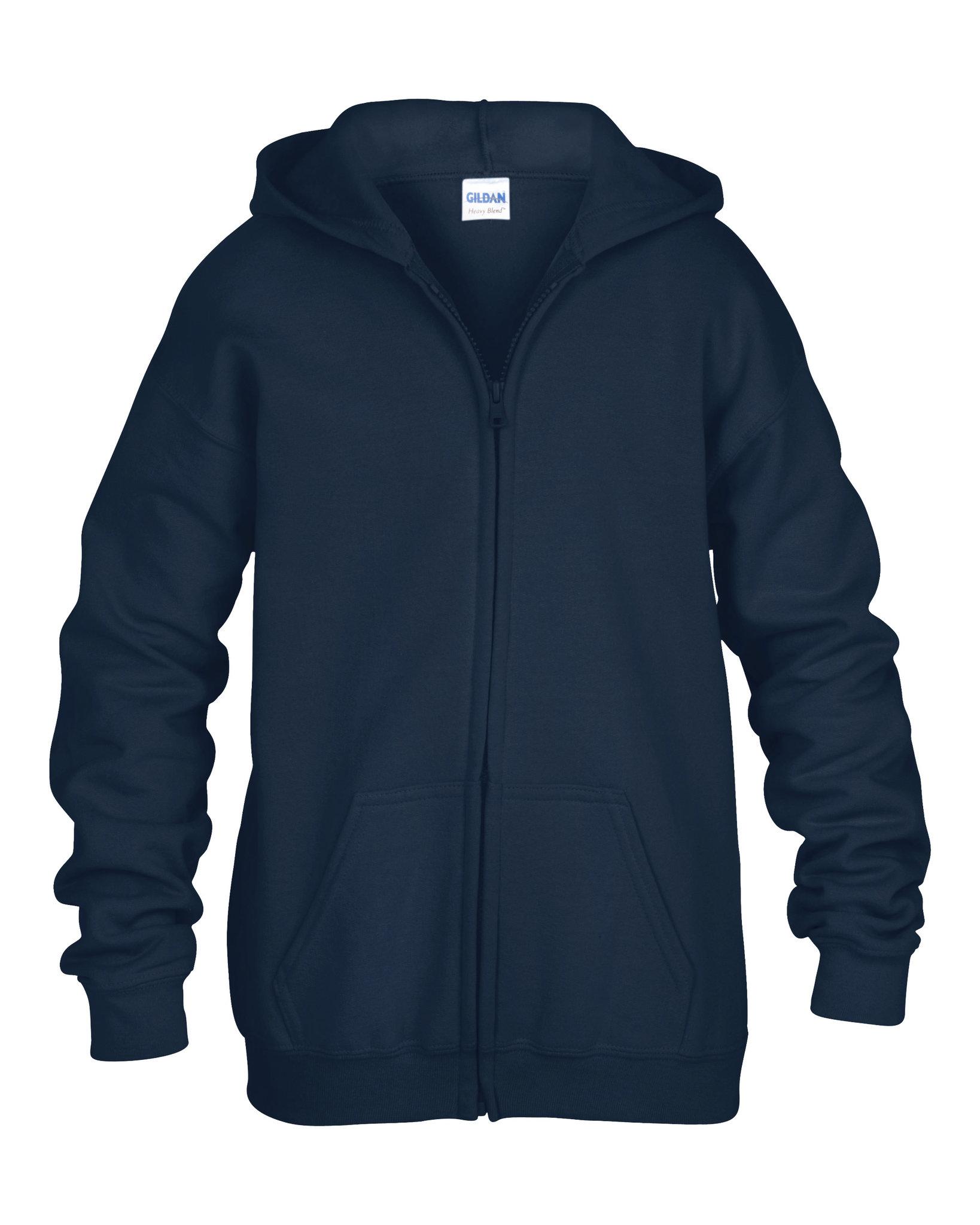 Sweatshirt promotionnel Full Hoody noir enfant - sweatshirt personnalisable