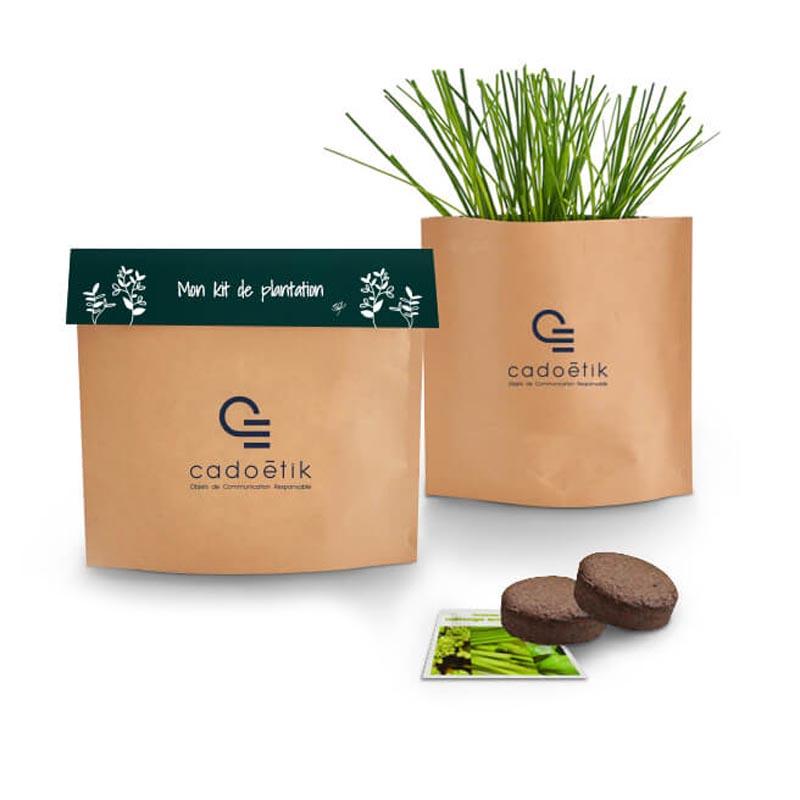 Goodies green pour envoi postal - Pot Kraft Easy