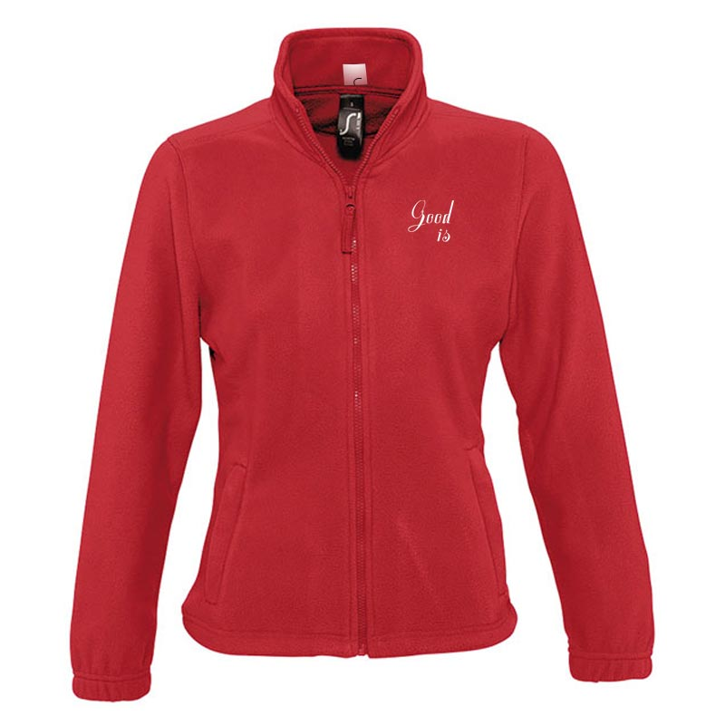 Veste polaire publicitaire zippée femme North - Coloris rouge