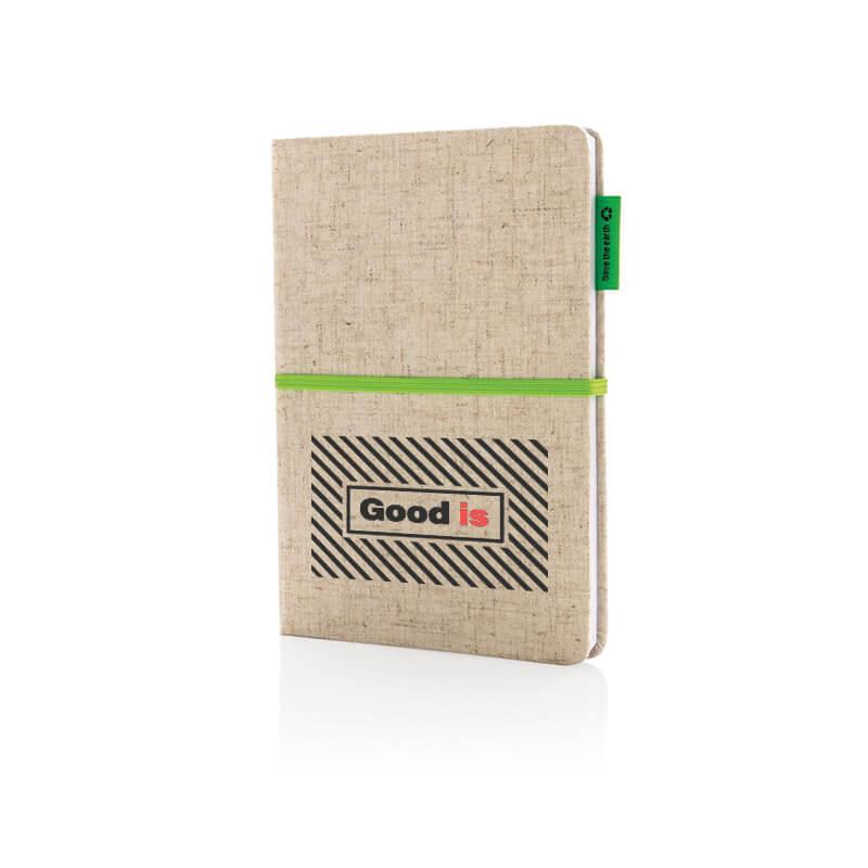 Goodies écologique - Carnet à couverture en jute et coton A5 Calhoun