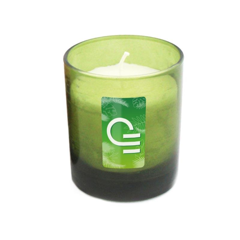 Bougie publicitaire déco avec adhésif seul - Coloris vert