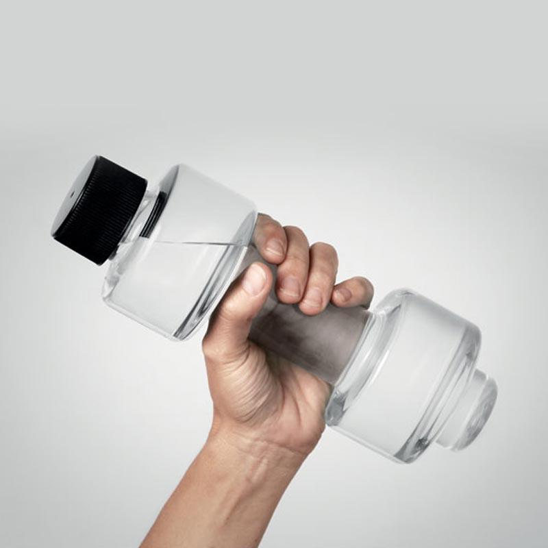 goodies original - bouteille publicitaire haltère 500 ml Peso