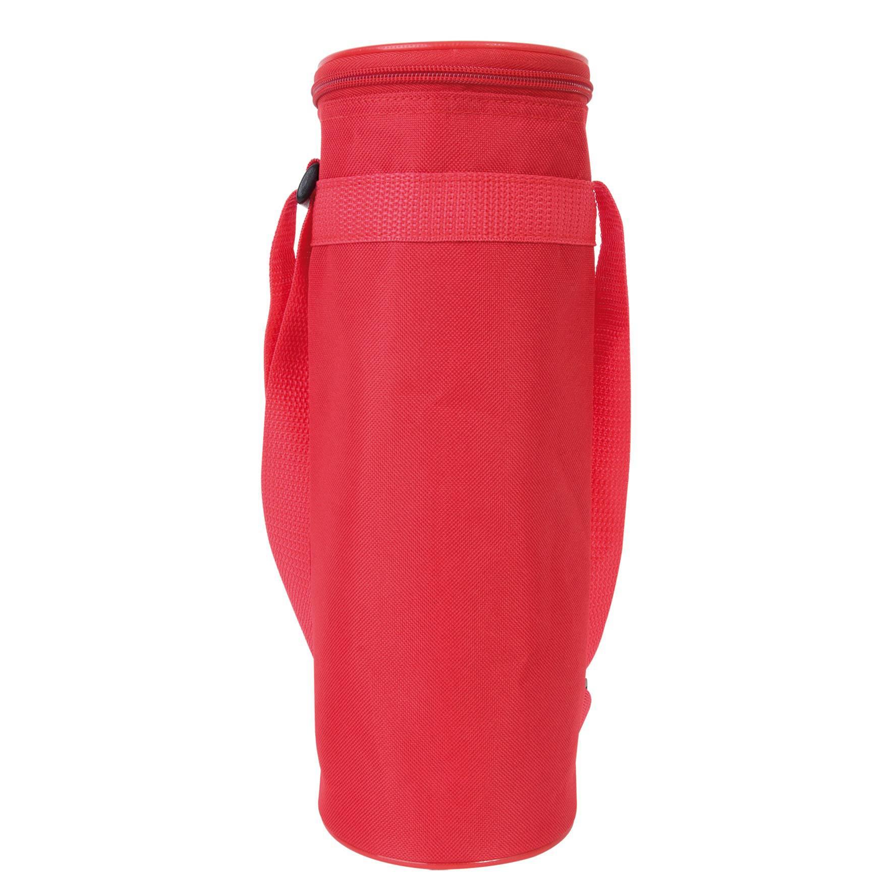 Cadeau promotionnel - Sac isotherme pour bouteille 1,5 l - rouge