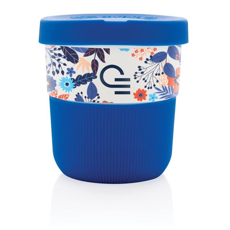 Mug de voyage publicitaire Ryoko en PLA - coloris bleu