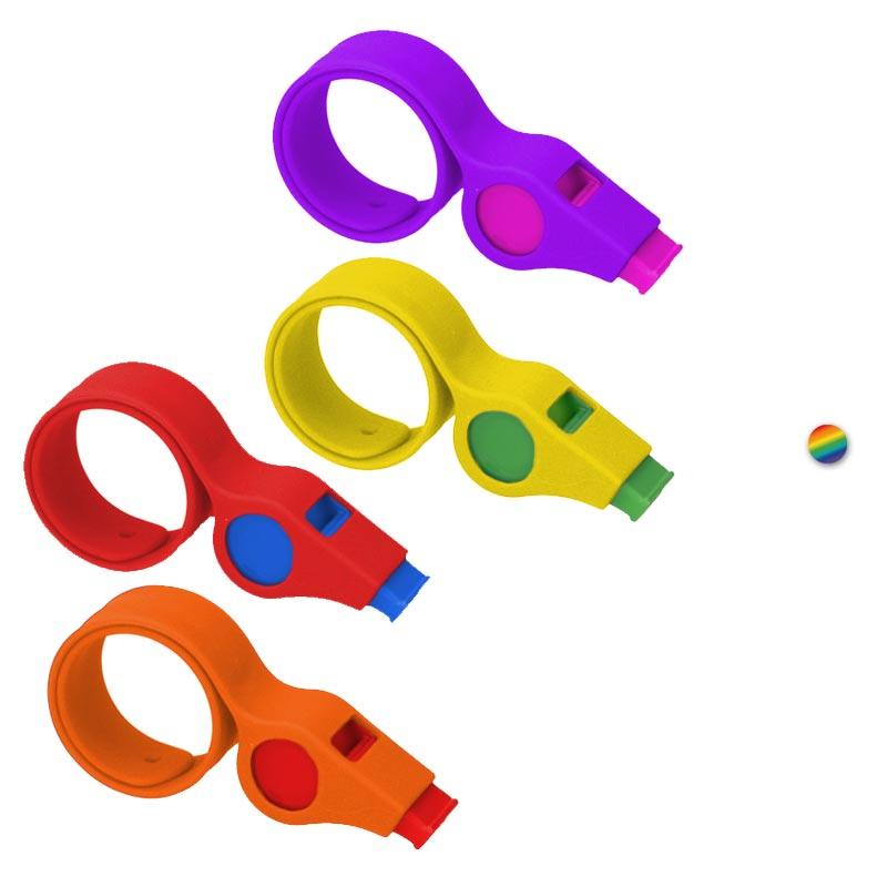 Bracelet publicitaire avec sifflet Silisnap - Coloris disponibles