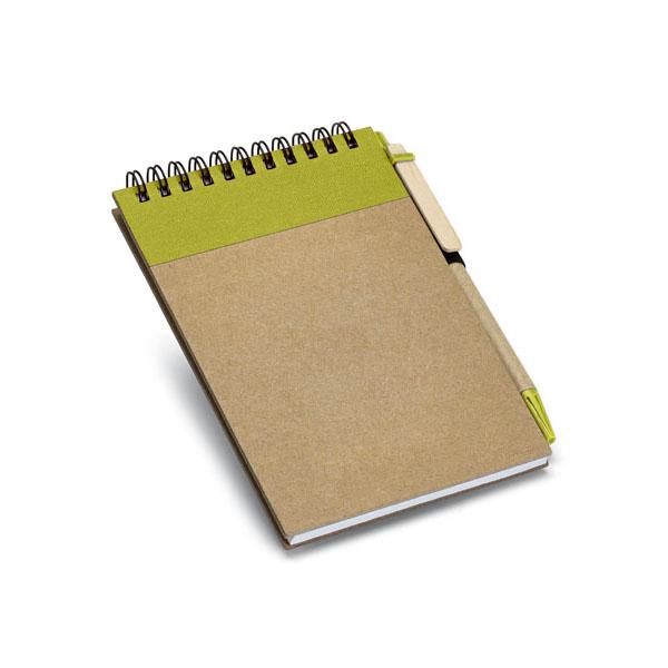 Carnet promotionnel écologique Diaries naturel/vert - goodies écologique