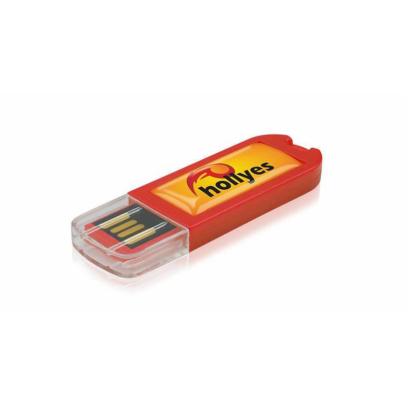 Clé USB publicitaire Spectra V2 rouge - clé USB personnalisable
